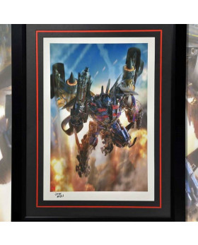 P1 Jetpower Optimus Prime Art Print (Framed)