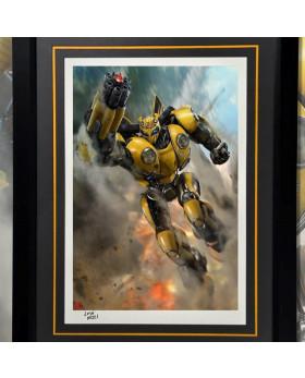 P1 Bumblebee Battle Mask Art Print (Framed)