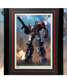 P1 Optimus Prime (Bumblebee Movie) Framed Art Print